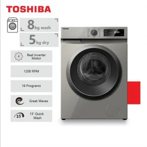 Toshiba 8Kg Front Loader Wash & Dry Machine